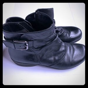 Clark's Black Leather Ankle Boots